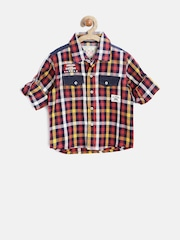 GJ Unltd Jeans by Gini & Jony Boys Multicoloured Gingham Check Shirt