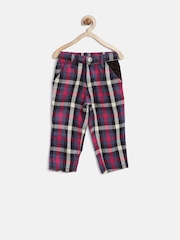 Gini & Jony Girls Multicoloured Checked Trousers