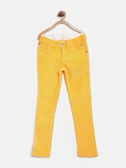 Palm Tree by Gini & Jony Girls Yellow Corduroy Trousers