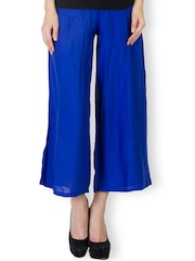 Be Indi Blue Ankle-Length Palazzo Trousers