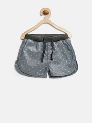 Gini & Jony Baby Girls Blue Dot Print Shorts
