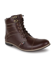 Guava Men Coffee Brown Genuine Leather Boots
