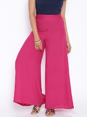 Desi Weaves Pink Palazzo Trousers
