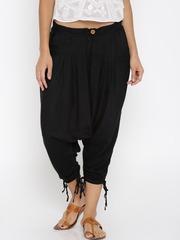 Desi Weaves Women Black Jodhpuri Trousers
