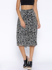 ONLY Black Floral Print Palazzo Trousers