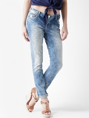 Silvian Heach Blue Washed Britney Slim Fit Jeans