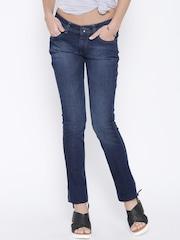 Pepe Jeans Navy Washed Frisky Slim Fit Jeans