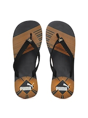 PUMA Men Black Printed Flip-Flops
