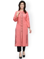 Tulsattva Peach-Coloured Kurta
