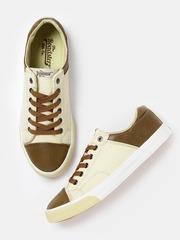 Roadster Men Beige & Brown Sneakers