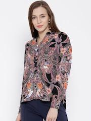 Vero Moda Multicoloured Polyester Floral Print Shirt