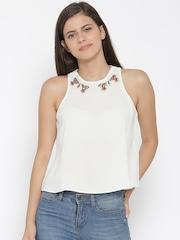 Vero Moda White Embellished Top