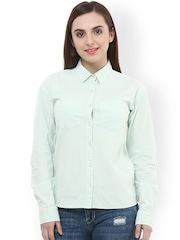 Oxolloxo Green Classic Fit Casual Shirt