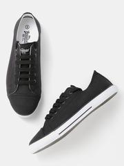 Roadster Men Black Canvas Shoes