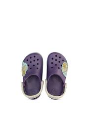 Crocs Girls Purple Disney Print Clogs with Light