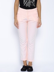 Pepe Jeans Peach-Coloured Linen Trousers