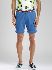 Superdry Blue Chino Shorts with Belt