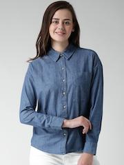 FOREVER 21 Blue Denim Shirt