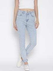 FOREVER 21 Light Blue Retro High-Rise Skinny Jeans