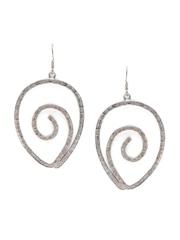 SANGEETA BOOCHRA Handcrafted Textured Oxidised Silver Drop Earrings