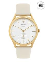 Swiss Eagle Women Silver-Toned Dial Watch SE-9085LS-GP-03