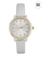 Swiss Eagle Women Silver-Toned Dial Watch SE-9086LS-TTYG-03