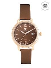 Swiss Eagle Women Coffee Brown Dial Watch SE-9086LS-RG-07