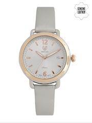 Swiss Eagle Women Silver-Toned Dial Watch SE-9087LS-TTRG-03