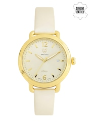 Swiss Eagle Women Muted Gold-Toned Dial Watch SE-9087LS-YG-03