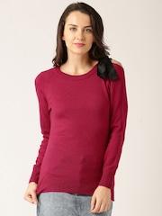 DressBerry Women Magenta Solid Sweater