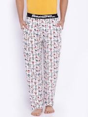 SMUGGLERZ INC. White Printed Pyjamas
