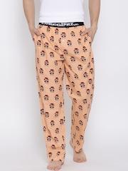 Smugglerz Peach-Coloured Printed Pyjamas FACES