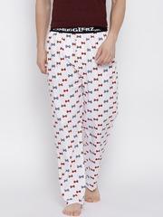 Smugglerz White Printed Pyjamas BOWS
