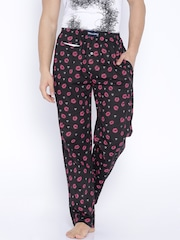 SMUGGLERZ INC. Black Printed Lounge Pants