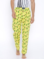 SMUGGLERZ INC. Yellow Printed Lounge Pants