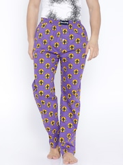 SMUGGLERZ INC. Purple Printed Lounge Pants