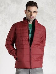 Roadster Maroon Quilted Jacket