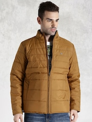 Roadster Brown Quilted Bomber Jacket