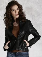 Roadster Black Leather- Look Biker Jacket