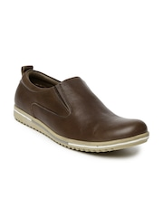 Egoss Men Leather Brown Loafers
