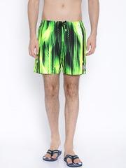 Speedo Green & Black Printed Swim Shorts 809677A666
