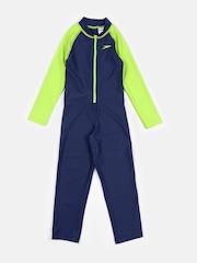 Speedo Boys Green & Navy Colourblocked Bodysuit 804884A806