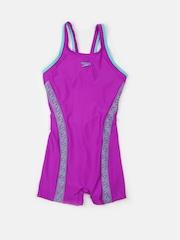 Speedo Girls Purple Printed Swimsuit 808748A822