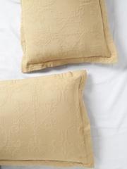 MASPAR Set of 2 Beige 20 x 30 Rectangular Pillow Sham Covers