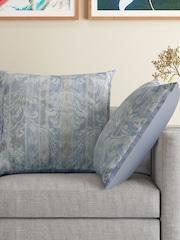 MASPAR Set of 2 Blue 26 x 26 Square Pillow Covers