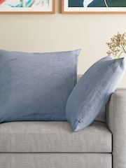 MASPAR Set of 2 Blue 26 x 26 Square Pillow Sham Covers