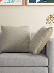 MASPAR Beige Set of 2 24 x 24 Square Pillow Covers