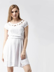 Metersbowne White Fit & Flare Dress
