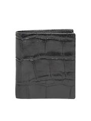 Cross Men Black Croc Patterned Handcrafted Genuine Leather Wallet