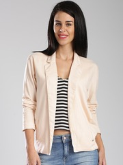 GAS Peach-Coloured Single-Breasted Comfort Fit Jacket
